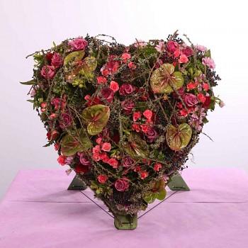 Smuteční srdce s opěrkou BIOLINE- 1.inspirace pro Vás