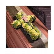 Kříž s podložkou, dušičková dekorace