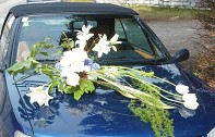Svatební dekorace na auto, autopřísavka mini