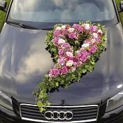 Svatební dekorace na auto, Srdce velké 80 cm