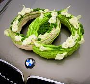 Svatební dekorace na auto, Prstýnky