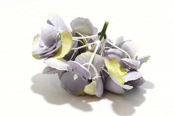 Umělá květina Hortenzie pudrová fialová