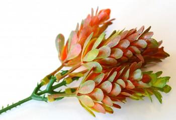 Umělé květiny Chmel oranžový
