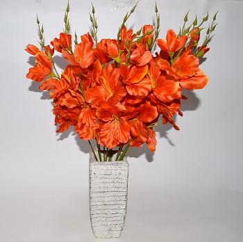Umělá květina GLADIOLA ORANŽOVÁ