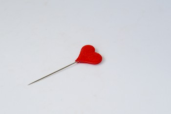 OZDOBNÝ ŠPENDLÍK Srdce látkové