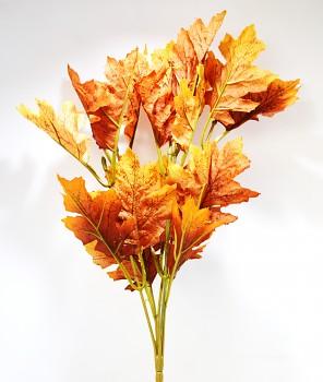 Dubové listí hnědé, podzimní dekorace