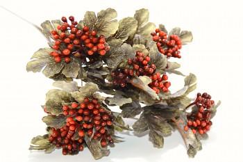 Listy šedooranžové, podzimní dekorace