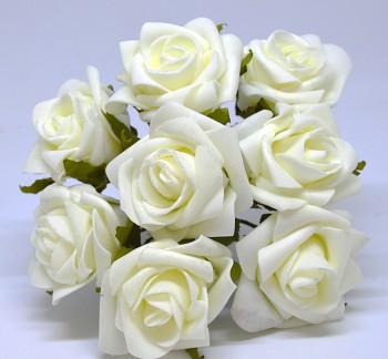 Umělá květina KYTICE KRÉMOVÁ