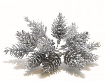 Vánoční dekorace ŠIŠKA STŘÍBRNÁ
