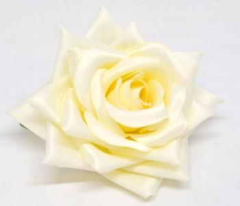 Umělá květina Růže Tamara cream