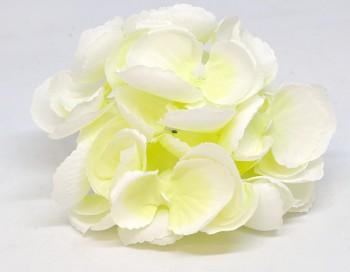 Umělá květina Hortenzie bílozelená