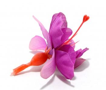 Umělá květina FUCHSIE fialová