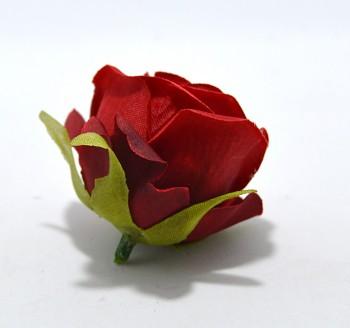 Umělá květina Růže deep red