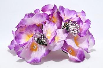 Umělá květina Hortenzie tmavě fialová