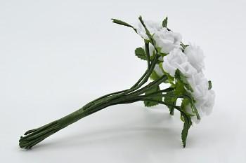 umělé květiny růžičky bílé