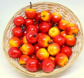 Umělá květina podzimní plody JABLKO ORANŽOVÉ