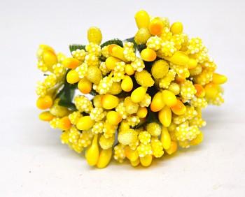 Umělá květina  ŽLUTÁ PŘÍZDOBA