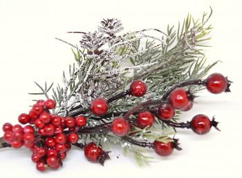 Vánoční dekorace ZIMNÍ VĚTVIČKA SVÁTEČNÍ
