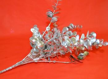 Vánoční dekorace VĚTVIČKA STŘÍBRNÁ