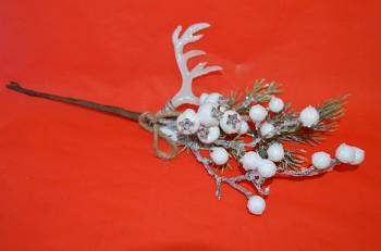 Vánoční dekorace ZIMNÍ VĚTVIČKA S PARŮŽKEM