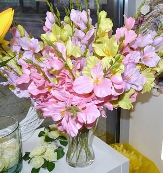 Umělé květiny GLADIOLA RŮŽOVÁ