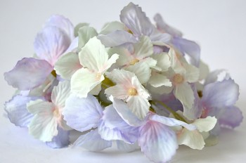 Umělé květiny Hortenzie  světlefialová, 13 cm