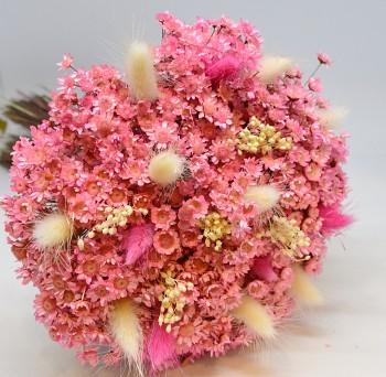 sušená kytice růžová