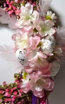 Velikonoční věnec na dveře RŮŽOVÁ NÁLADA