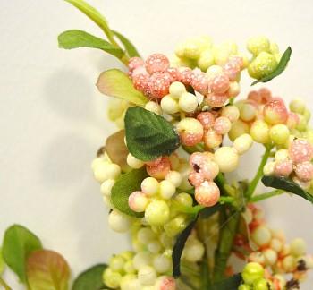 Umělá květina Větvička bobule růžové