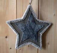 Závěsná vánoční dekorace hvězda