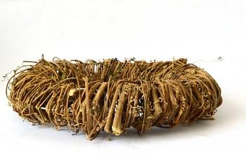 Proutěný věnec ratan, 30 cm
