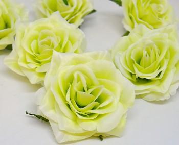 Umělá květina Růže scarlett zelená