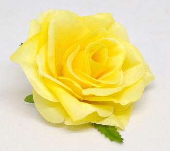 Umělá květina Růže Scarlett žlutá