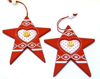 Dřevěná vánoční ozdoba Severská hvězda