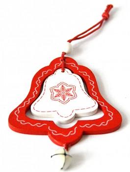 Dřevěná vánoční ozdoba Vánoční zvoneček