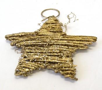 Vánoční ozdoba Zlatá hvězdička