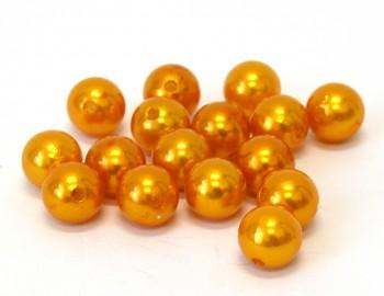 Dekorační perly oranžové 14 mm