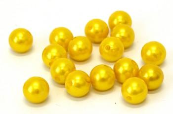 Dekorační perly žluté 14 mm