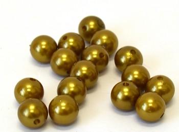Dekorační perly zlaté 14 mm