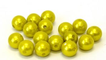 Dekorační perly zelené 14 mm
