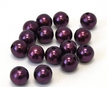 Dekorační perly fialové 14 mm