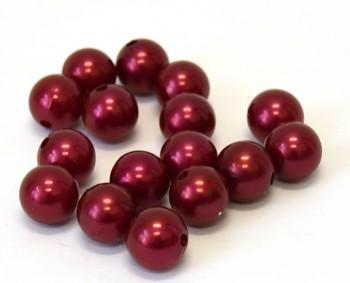 Dekorační perly červené 14 mm