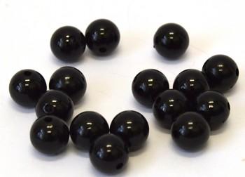 Dekorační perly černé 14 mm