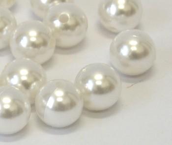 Dekorační perly bílé 20mm