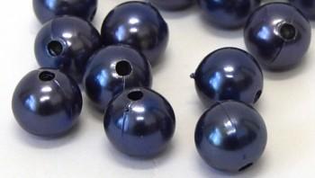 Dekorační perly modré 20mm