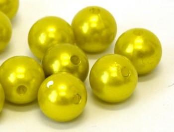 Dekorační perly zelené 20mm