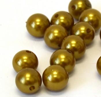 Dekorační perly zlaté 20mm