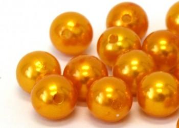 Dekorační perly oranžové 20mm
