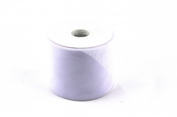Stuha tylová bílá 10 cm