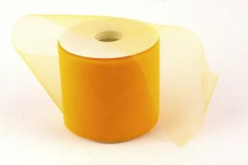 Stuha tylová žlutá 10 cm